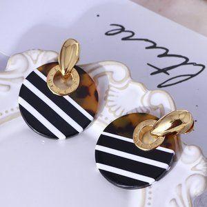 Henri Bendel Round Resin Color Stud Earrings